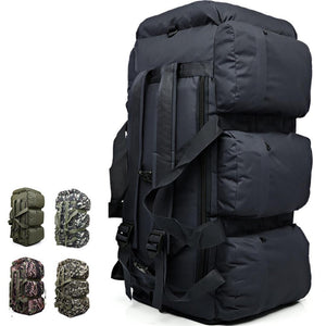 Outdoor Large Capacity Army Tactical Backpacks Camouflage Mountain Climbing Military Backpack Duffle Bag Hiking 9 Pockets  90L - Ding's Place