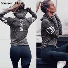 Load image into Gallery viewer, Fitness Breathable Sportswear Women T Shirt Sport Suit Yoga ShirtsTop Quick-Dry Running Shirt Gym Clothes Sport Shirt Jackets - Ding's Place