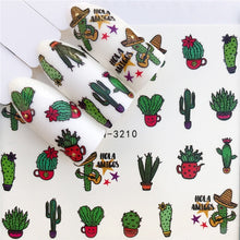 Load image into Gallery viewer, WUF Nail Stickers on Nails Horse Flower Stickers for Nails Lavender Nail Art Water Transfer Stickers Decals - Ding's Place