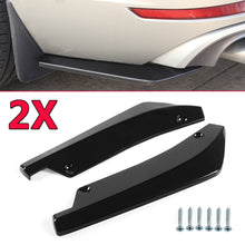 Load image into Gallery viewer, A Pair Rear Bumper Lip Angle Splitters Diffuser Side Skirt Extensions Universal - Ding's Place