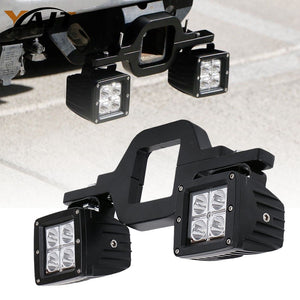 Yait Universal Tow Hitch Bracket Mounting Kit Tube Clamps With 2pcs 3inch LED Pods LED Work Light for Trailer Truck SUV RV - Ding's Place