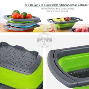 Kitchen Drainer Colander  Rack Collapsible Dish Drying Rack - Ding's Place