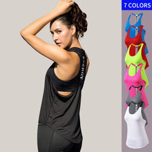 Load image into Gallery viewer, Gym Top Black Sleeveless Yoga Top Gym Women Shirt Fitness T-Shirts Dry Workout Tops Sports Tops Gym Women Backless Shirt - Ding's Place