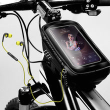 Load image into Gallery viewer, WILD MAN Mountain Bike Bag Rainproof Waterproof, Front Bag 6.2inch Mobile Phone Case Bicycle Top Tube Bag Cycling Accessories - Ding's Place