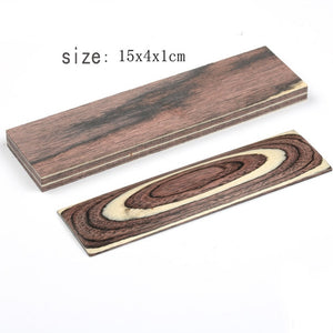 4 colors DIY Knife Handles Making material wood blanks Color wood Handle Parts Grips 150x40x10mm - Ding's Place