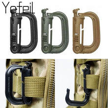 Load image into Gallery viewer, 5PCS Grimloc Molle Carabiner D Locking Ring  Plastic Clip Snap Type Ring Buckle Carabiner Keychain ITW fastener Bag buckle - Ding's Place