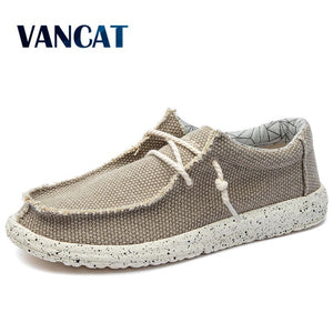 New Summer Autumn Canvas Men's shoes Breathable Men vulcanized shoes Slip Wear Men's Flat shoes Soft Casual Shoes - Ding's Place