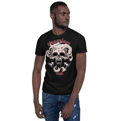 Double Canister Short-Sleeve Unisex T-Shirt - Ding's Place
