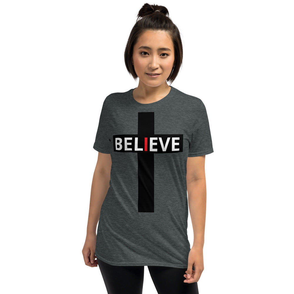 Believe faith hope and love Short-Sleeve Unisex T-Shirt - Ding's Place