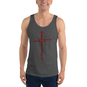 Nails / Cross Unisex Tank Top - Ding's Place