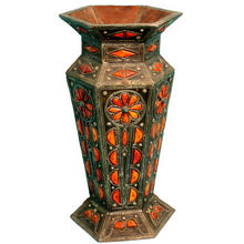 Load image into Gallery viewer, Leather Decorative Vase