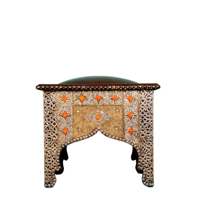 Moroccan Leather Stool