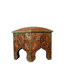 Load image into Gallery viewer, Moroccan Leather Stool