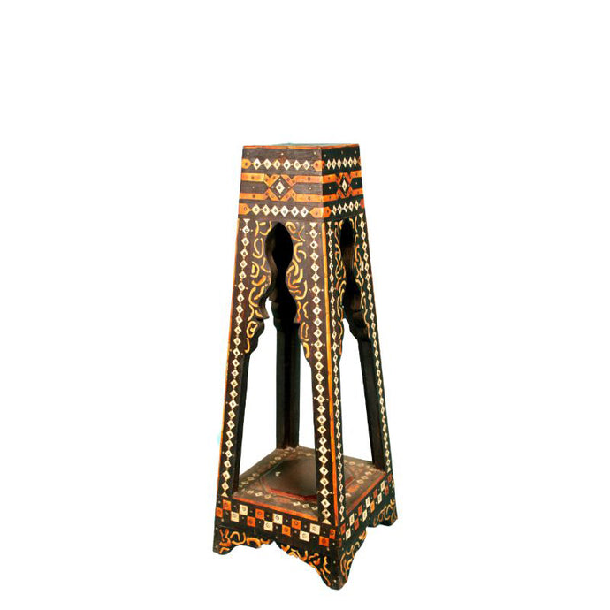 Moroccan Bone and Brass Side Table