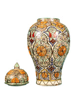 Load image into Gallery viewer, Moroccan Ceramic Vase And Cover