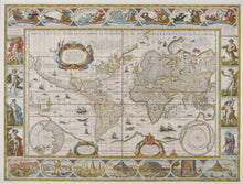 Load image into Gallery viewer, World map - Willem Bleau, 1606 or later