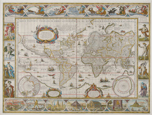 World map - Willem Bleau, 1606 or later