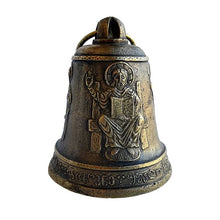 Load image into Gallery viewer, Christ Pantocrator Holy Mother of Christ carved bronze bell