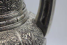 Load image into Gallery viewer, Tall Silver Hand Engraved Vase