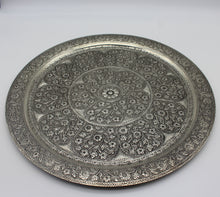 Load image into Gallery viewer, Large Silver Decorative Plate