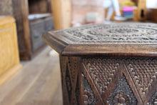 Load image into Gallery viewer, Dark Konjic Hand-carved Stool