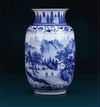 Load image into Gallery viewer, Porcelain Blue and White Winter Melon Vase