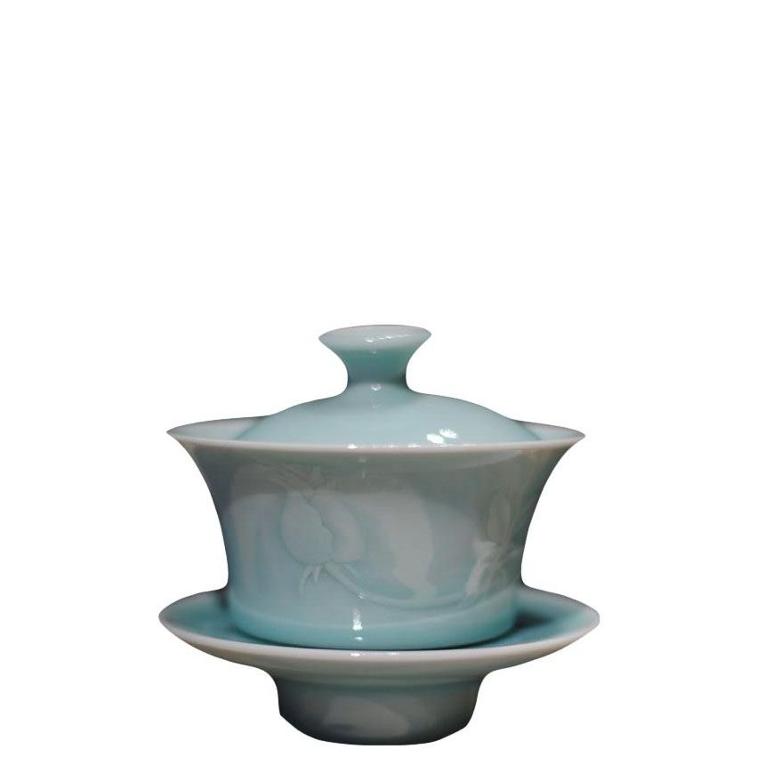 Rose Branch Longquan Teacup & Holder
