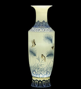 Porcelain Flower and Bird Vase