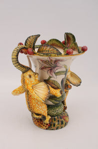 Yellow Elephant Vase