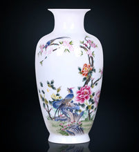 Load image into Gallery viewer, Birds & Blossoms Porcelain Vase