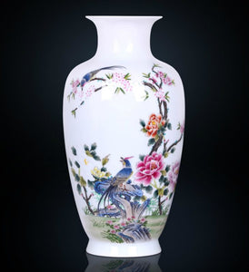Birds & Blossoms Porcelain Vase