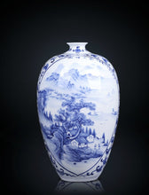 Load image into Gallery viewer, Fine Blue and White Porcelain Vase