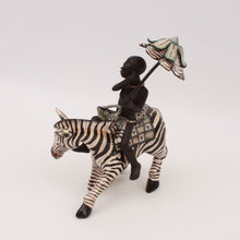 Load image into Gallery viewer, Zebra Rider Sculpture