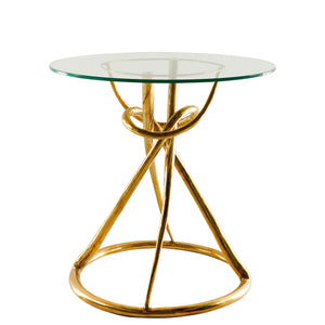 This is a Brass Side Table