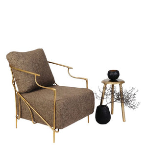 This is a Brass Armchair