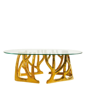 This is a Brass Coffee Table