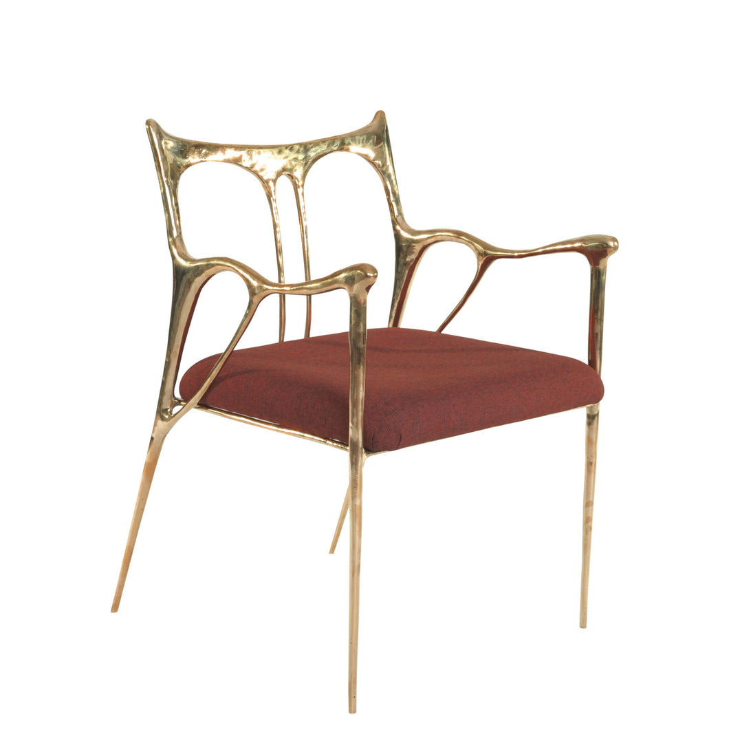 This is a Brass Dining Chair