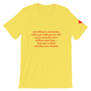 according to astronomy Unisex T-Shirt