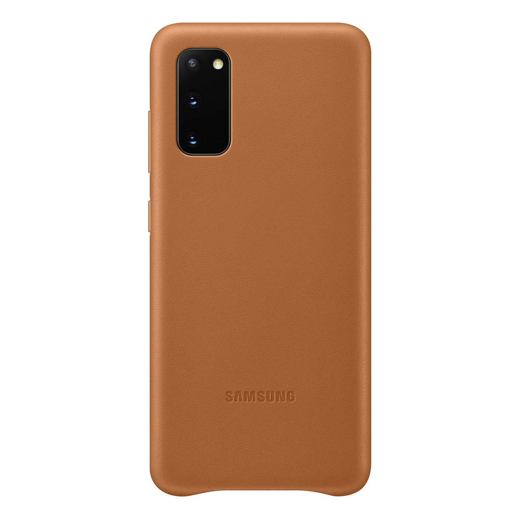 Samsung Leather Cover For Samsung Galaxy S20 - Brown