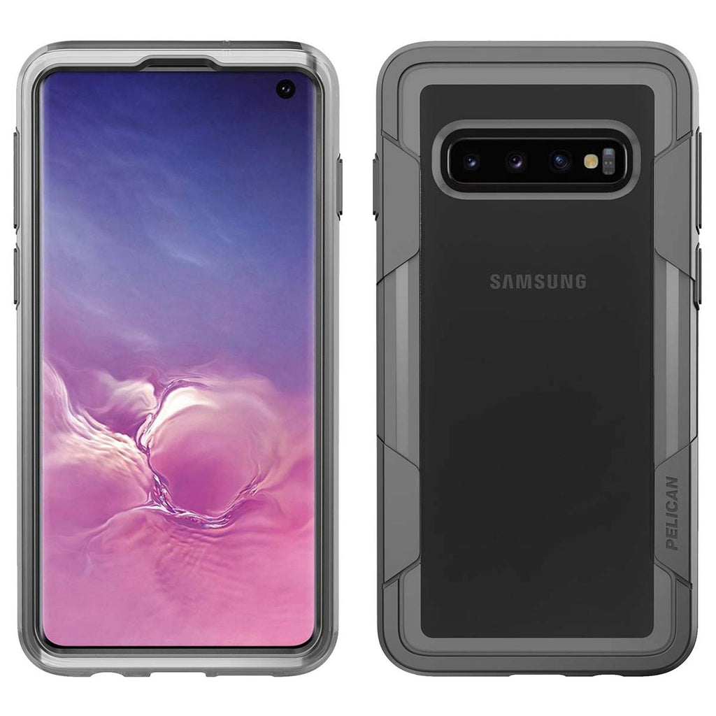 Pelican Voyager For Samsung Galaxy S10 - Clear/Gray
