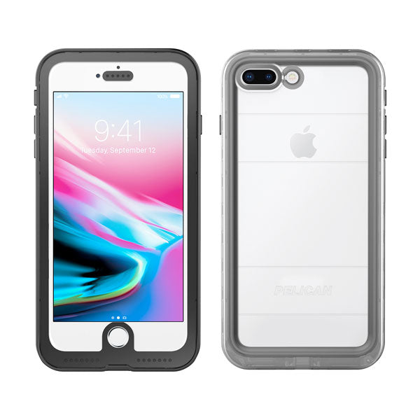 Pelican Marine Case For iPhone 6/6S/7/7S/8 Plus - Black/Clear
