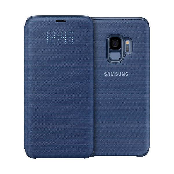 Samsung LED Wallet Cover For Samsung Galaxy S9 - Blue