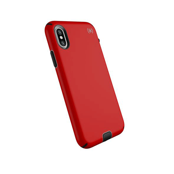 Speck Presidio Sport Case For iPhone X - Heartrate Red/Sidewalk Grey/Black