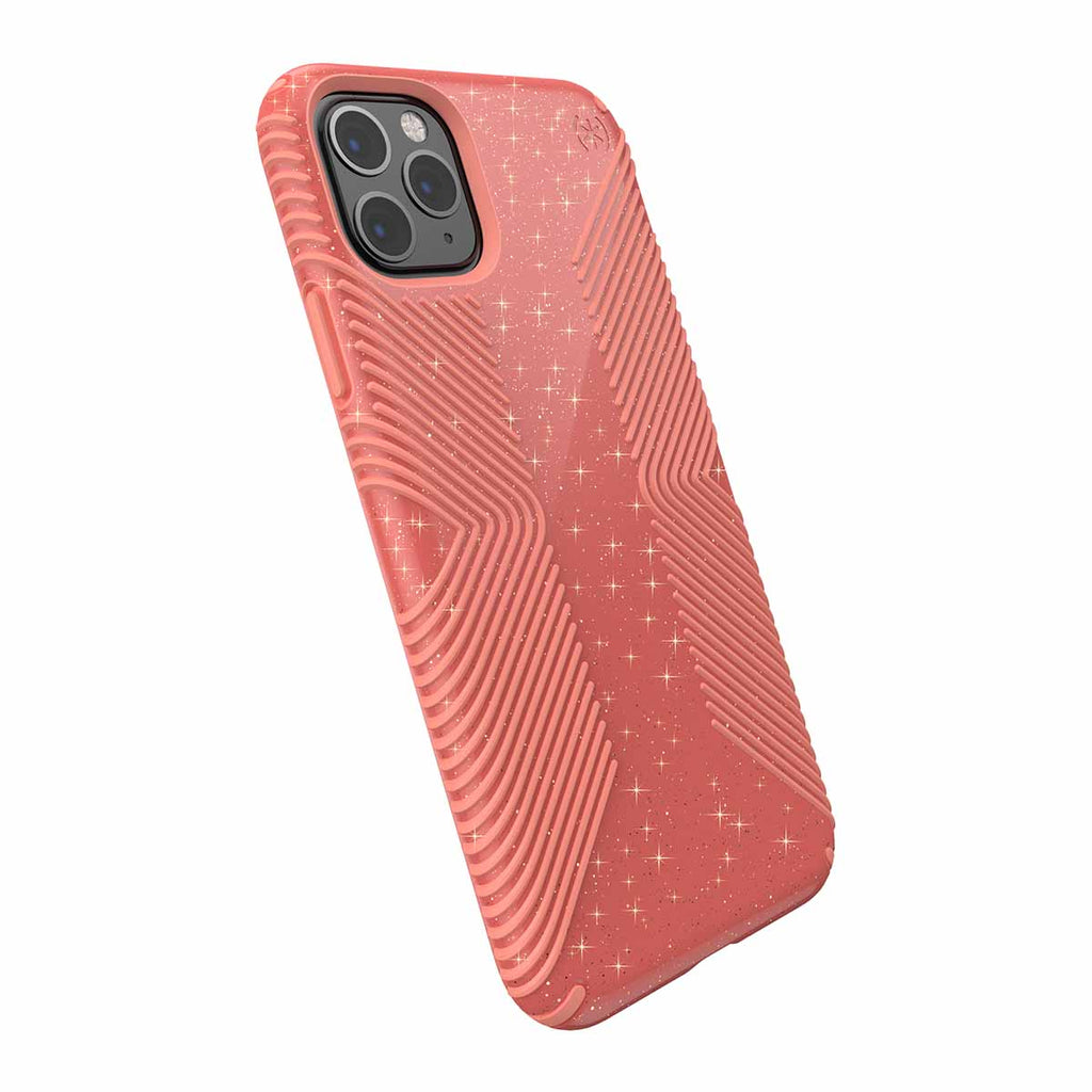 Speck Presidio Grip + Glitter For iPhone 11 Pro Max - Lilypink Glitter/Papaya Pink