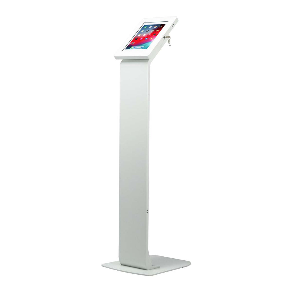 CTA Digital Inc. Premium Locking Floor Stand Kiosk - White