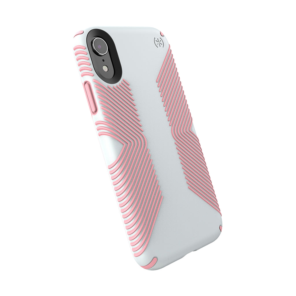 Speck Presidio Grip Case For iPhone XR - Dove Grey/Tart Pink