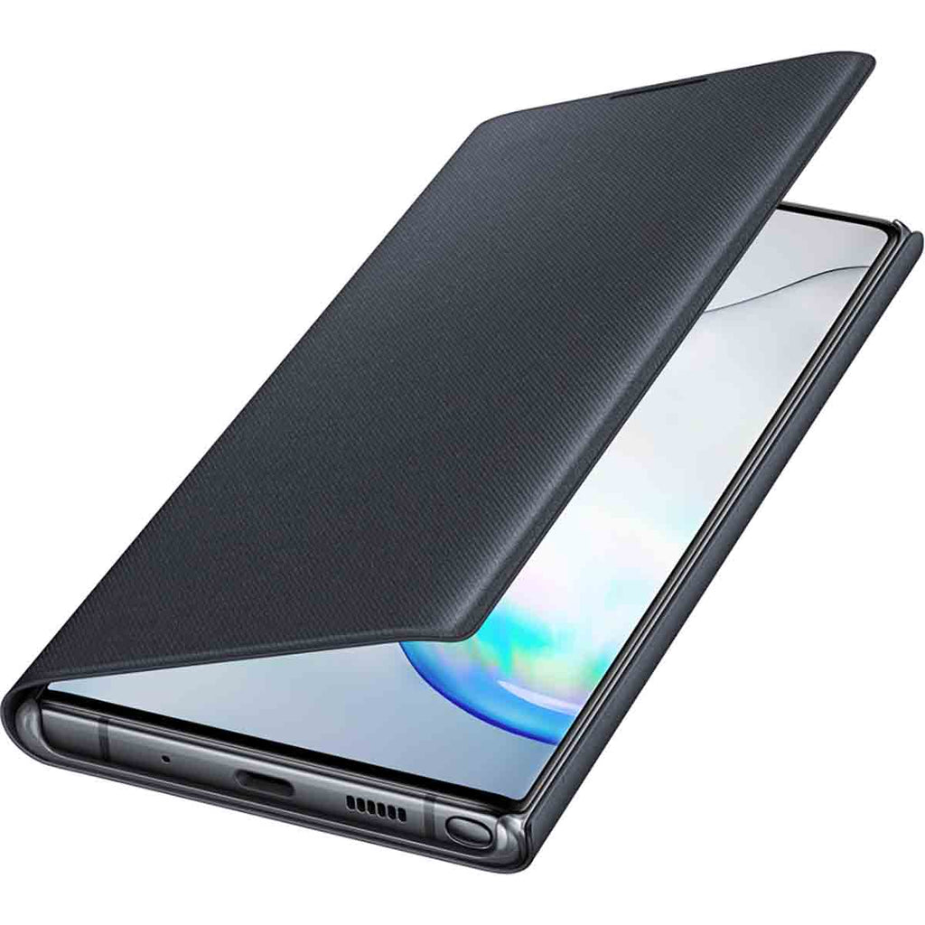 Samsung LED Wallet Cover For Galaxy Note 10 Plus - Black