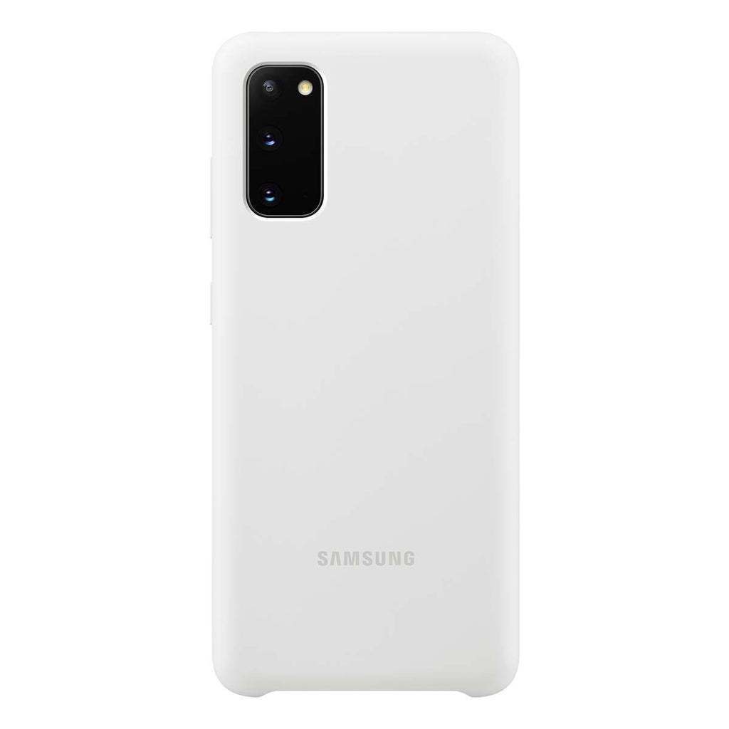 Samsung Silicone Cover For Samsung Galaxy S20 - White