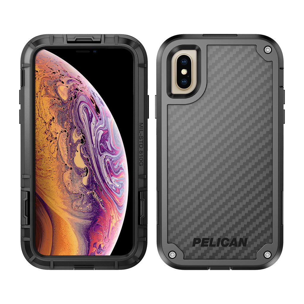 Pelican Shield For iPhone XS - Black/Black