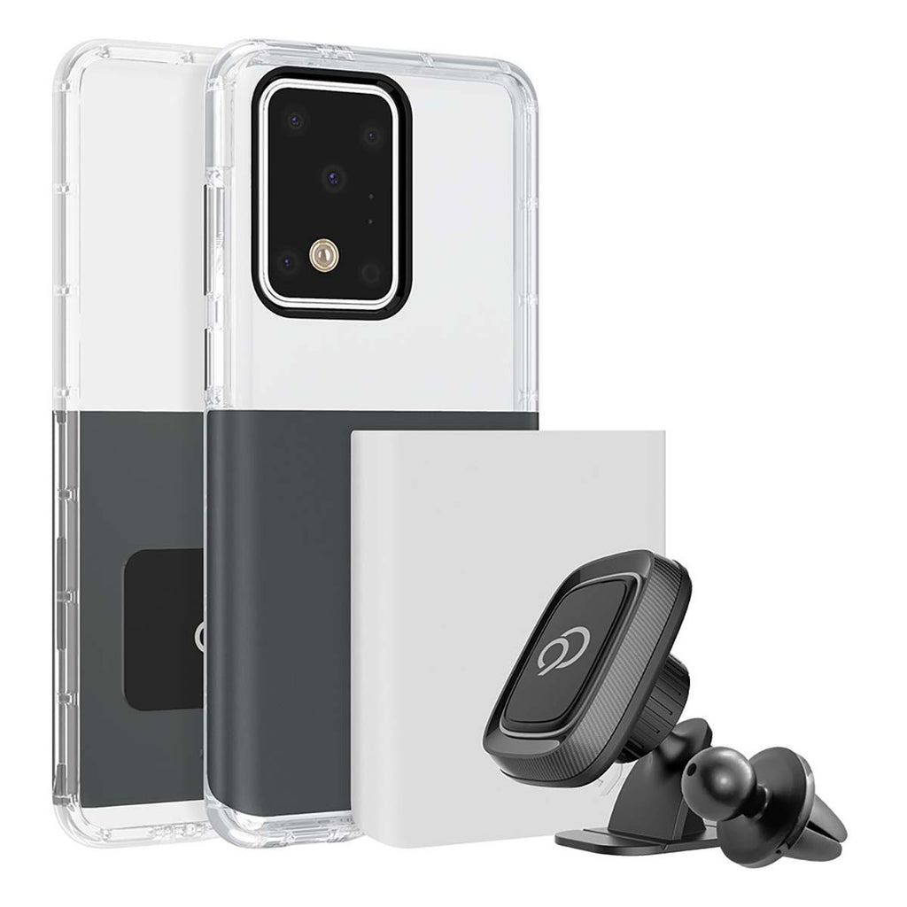 Nimbus9 Ghost 2 Pro Case For Samsung Galaxy S20 Ultra - Gunmetal Gray / Pure White